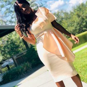 Stunning one shoulder dress blush